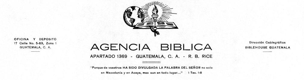 Agencia Biblica Letterhead