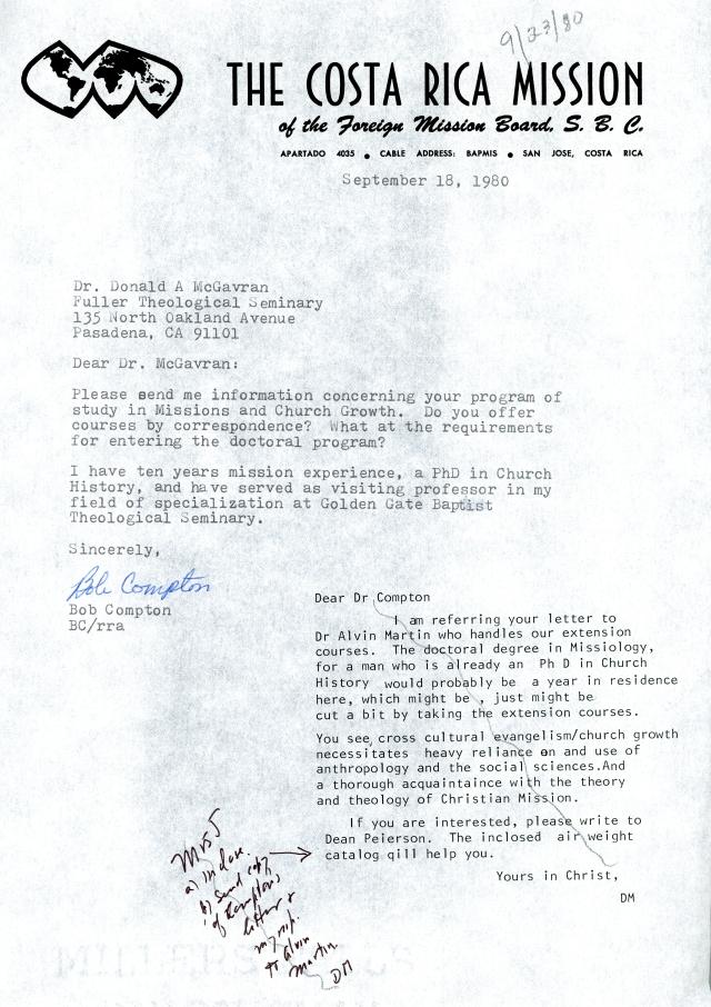 Bob Compton to McG Letter 9 18 1980