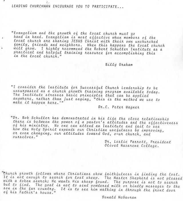 Endorsements for October 1980