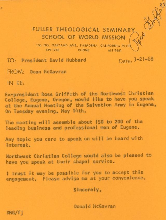 McG to Hubbard Memo 3 21 1968 p1