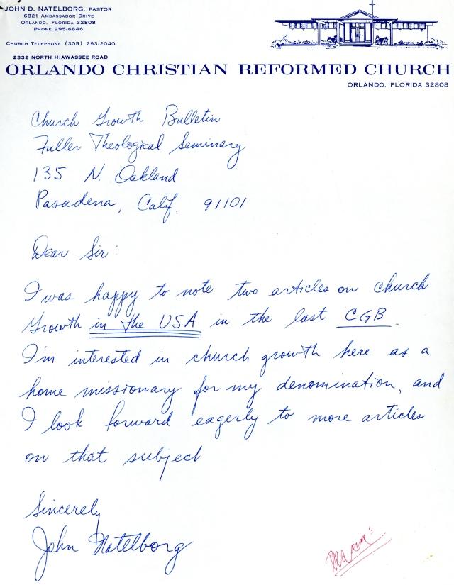 John Natelborg to McG Letter
