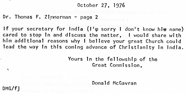 McG to Thomas Zimmerman Letter 10 27 1976 p2