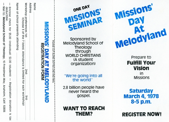 1978 Missions Conference p1