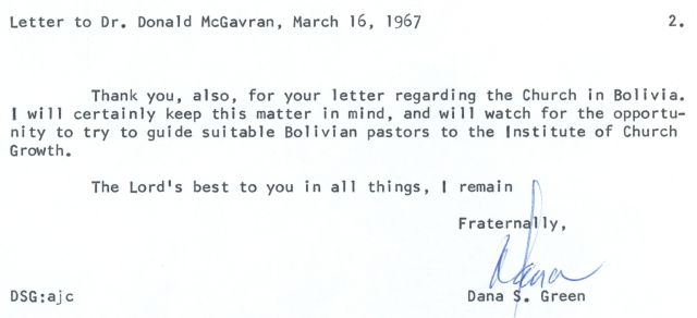 Dana Green to McG Letter 3 16 1967 p2