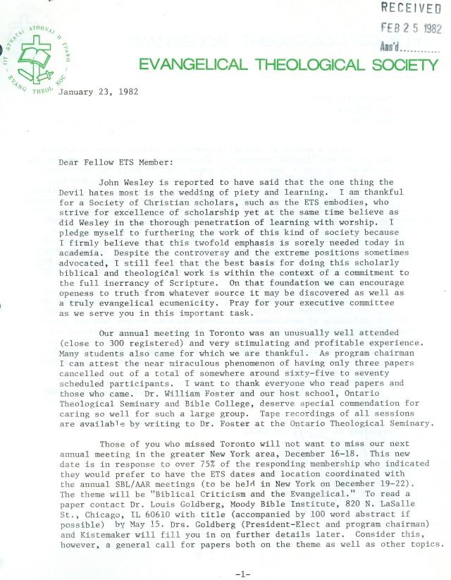 ETS Letter 1 23 1982 p1