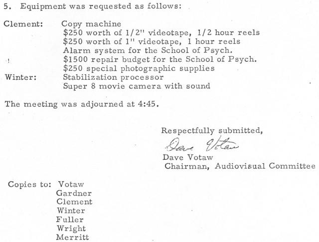 AV Committee Minutes 11 22 1974 p2