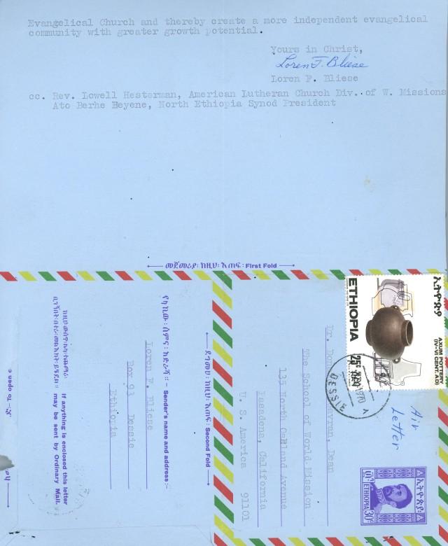 Loren Bliese to McG Letter 4 10 1970 p2
