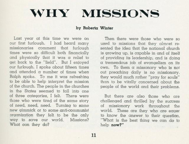 1962 Essay by RHW