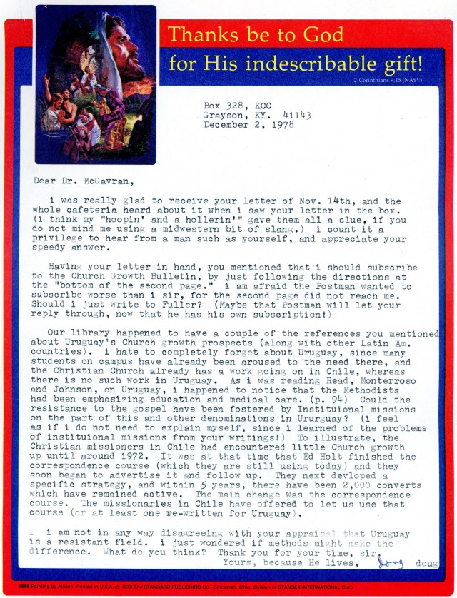 Douglas Lucas to McG Letter 12 2 1978
